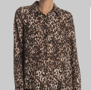 Animal Print Long Sleeve Blouse